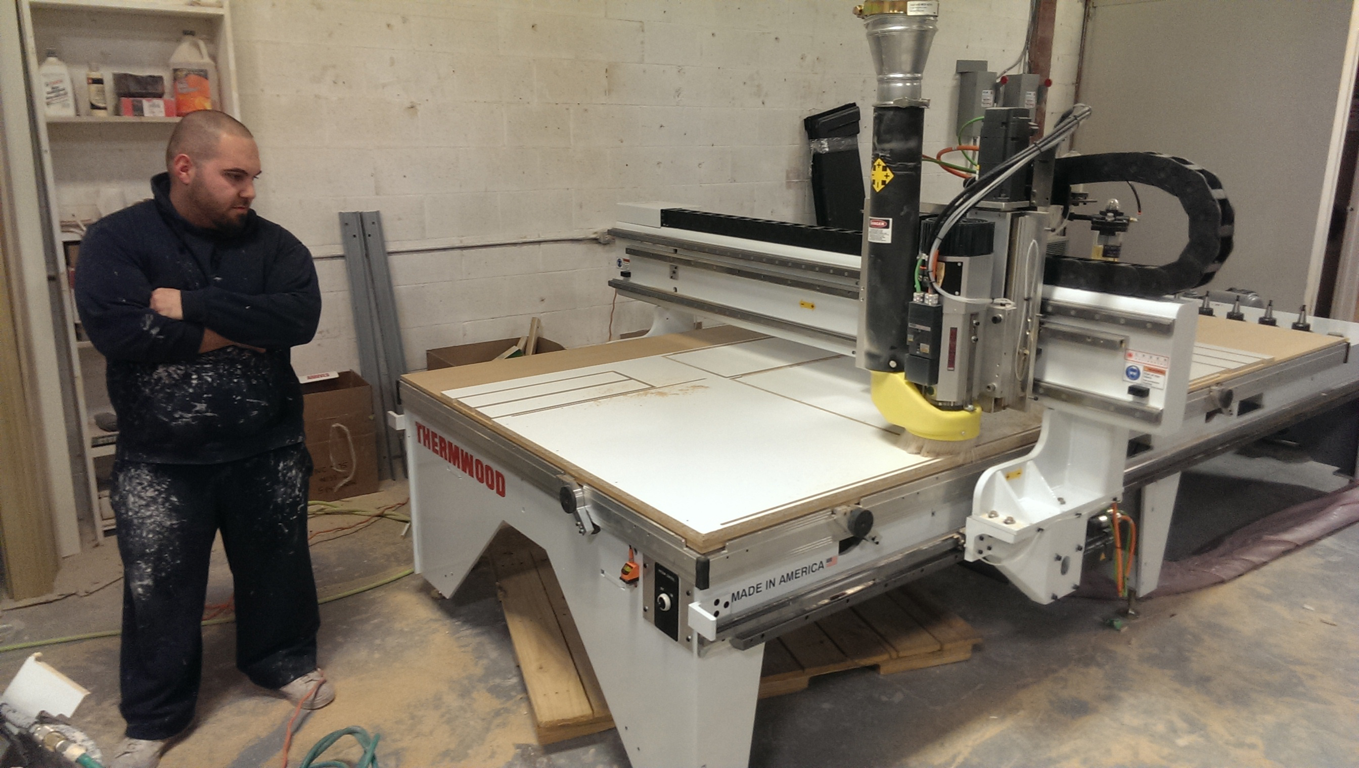 Van Dyck Custom Kitchens Install Thermwood Router